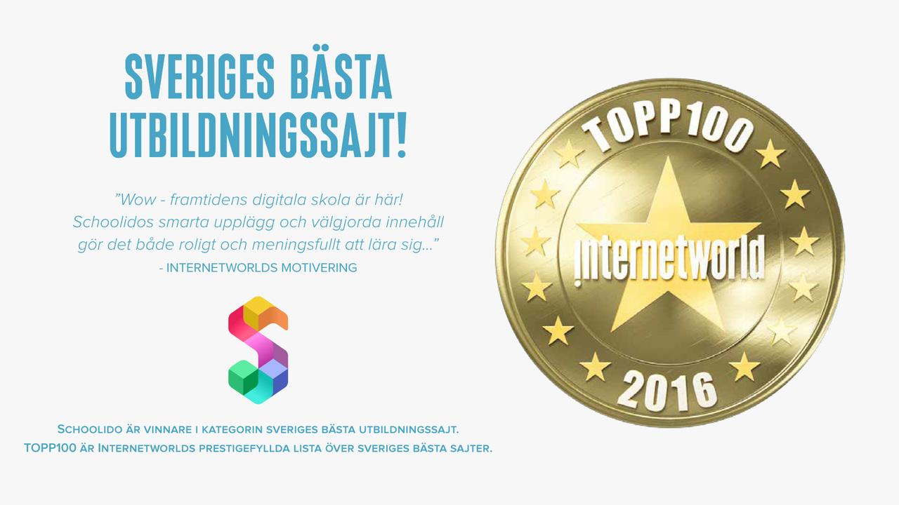 Vinnare av Sveriges bästa utbildningssajt